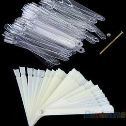 Wholesale False Nail Art Board Tip Stick Sticker Polish Foldable Display Beauty Practice Fan Clear White
