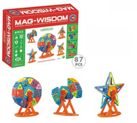 Wholesale 87PCS plastic model kits Kebo Mag wisdom magnetix toys magnetic educational toys
