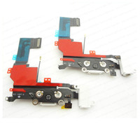 Wholesale Headphone Audio Charger dock Data USB Port Flex Cable For iPhone S White Black DHL ship