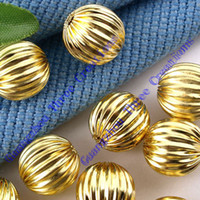 Wholesale DIY mm Gold Watermelon Ball Beads Spacer Fashion Jewelry Beads Spacers amp Jewelry Findings