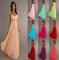 Wholesale Cheap A line Empire Chiffon Bridesmaid Dress Cap Sleeves Sweetheart Long Length Backless Coral Evening Gowns Prom Dresses Under EB239