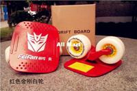 Wholesale 12pair drift skates freeline skates aluminium deck board Xmas Christmas Gift Express shipping
