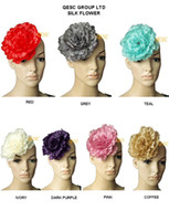 Wholesale NEW ARRIVAL CM Silk Flower for wedding accessories sinamay fascinator with brooch pin hair clip