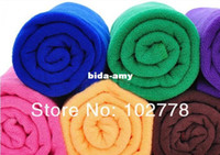 Wholesale Freeship cm cm Shower bamboo fibre soft beach Wraps adults kids Ultrafine absorbent bath solid towel thickening