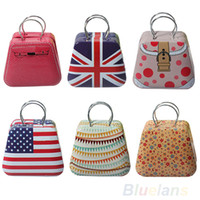 Jewelry Boxes Jewelry Packaging & Display Carrying Cases Cute Mini Metal Capsule Handbag Tinplate Coin Bag Storage Candy Jewelry Case Box Christmas Gift Item