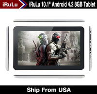 Wholesale Promotion iRuLu quot quot Inch Android Dual Core Tablet PC VIA8880 Capacitive GB MB Dual Camera HDMI WIFI quot Tablet Freeshipping