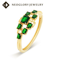 Wholesale Neoglory Charm Turquoise Bracelets amp Bangles Green Jewelry for Women Accessories Gold Plated Jewellery Gifts