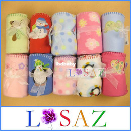 Wholesale Newborns Polar Fleece Bedding Blanket Cartoon Cochet Baby Travel Blankets