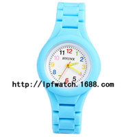 Wholesale New Silica gel Children Watch with Arabic Numbers Hour Marks Round Dial and Silicon Band for Children