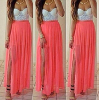 strapless chiffon maxi dress « Bella Forte Glass Studio