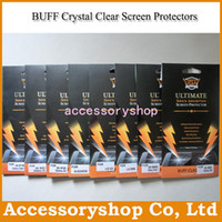 Wholesale BUFF Ultimate Explosion proof Shock Absorption Classic Crystal Clear Screen Protector For iPhone S Galaxy Note S3 S4 S5 Mini LG G2