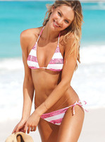 Wholesale NEW Sexy bikini ladies swimwear bathing suits womens swimsuits stripe print bikini String Bikini