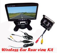 "1 channel 1.5 640x480 car dvr The new 7 ""LCD Monitor Car Rear View Kit Wireless 2.4GHz 18 LED IR COMS Reverse Camera Free Shipping"