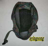 Wholesale Protection Digital camouflage Face Metal Mesh Protective Mask Airsoft Paintball Resistant Skull
