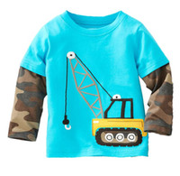 Wholesale 2014 Newest Boys Tshirts Long sleeve t shirts Children s Tops Tees Shirts TOP QUALITY Army Crane