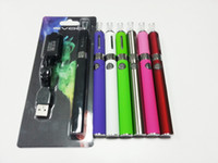 Wholesale EGO EVOD starter kit E cig Blister Card With USB Rechargable evod Battery mAh mAh mAh MT3 Clearomizer atomizer Assorted Color