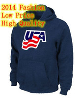 Wholesale Men s Athletic Hoodies USA Graphic Legend Performance Pullover Sweatshirt Hoodies Deep Blue Best Quality Low Price Fashion Fleeces Hoody