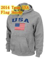 Wholesale Team USA Olympics Hoodies USA Flag Pullover Mens Hoody Popular And Fashion Brand Name Hoodies Size S XXXL Sports Uniforms Fleeces
