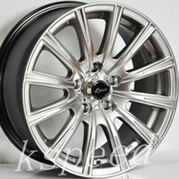 aluminum car rims - 16X7 quot KSPEED ALUMINUM ALLOY WHEELS X100 ET38 CHORME MATTE BLACK BMW SUZUKI FORD CAR RIMS SPOKES SET4 MODIFITED WHEELS RIMS