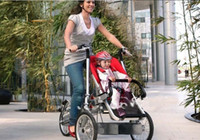Wholesale high quality child and mother stroller bike baby amp mom bicycle pc free ship
