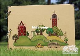 Wholesale Diy photo album big ben photo album handmade baby gifts corner posts pen