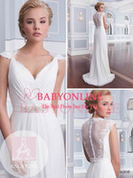 Wholesale Classical Jenny Packham Summer Lace Crystal Sheath Wedding Dresses With Cap Sleeve Beaded Sash Formal Evening Prom Gowns EWL218