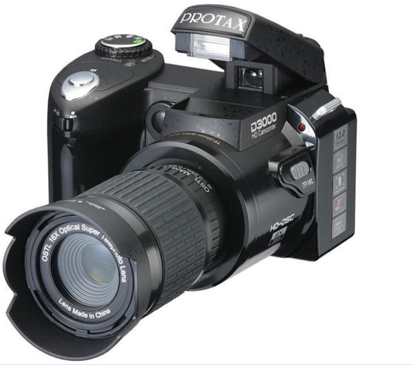 New Polo Protax SLR D3000 Digital Camera 16MP 3.0 TFT 8X Zoom Digital Camera HD Digital Video D3000 Telephoto digital camera High Quality