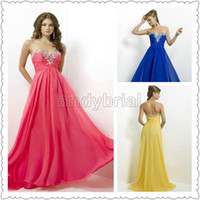 2014 Sweetheart Crystal Evening Dresses Floor- Length Custome...