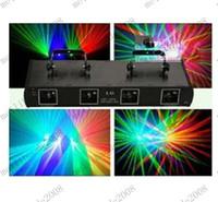 Precio de la promoción de Navidad! -280mW 4 lentes de color RGV Laser DMX del disco de DJ luz de la etapa espectáculo Equipo MYY8779