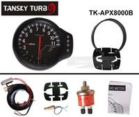 Wholesale Tansky Universal Gauge Meter APEXI II Tachometer in1 Integrated Temp Pressure face black original color box TK APX8000B
