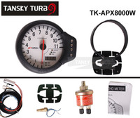 Wholesale Tansky Universal Gauge APEXI II Tachometer in1 Integrated Temp Pressure face white original color box TK APX8000W