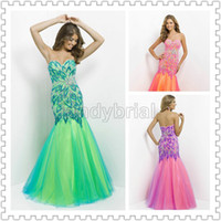 2014 Luxury Sweetheart Crystal Beading Evening Dresses Floor...