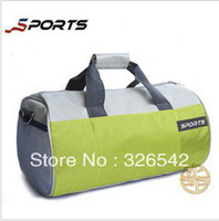 Wholesale sport bag and fitness package cylindrical advertising package travel portable shoulder bag Messenger bag men drums