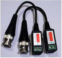 Wholesale 200pcs pairs BNC CAT5 Video Balun Transceiver Cable with packing FOR Camera CCTV pairs H174