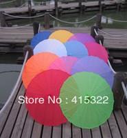 100pcs/lot envío artesanía china tradicional de la sombrilla de seda colorida boda gratis