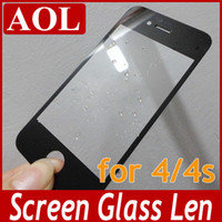 Wholesale 100 return QUALTIY WARRANTY TOP AAAAA Front Outer Glass Lens Screen for iPhone S Touch Screen Cover Repair Parts Black White DHL free