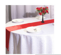Wholesale Multi Color Hot sale High Quality Wedding Satin Table Runner Ribbon Table Cloth Party Banquet Decoration Wedding Party Supply Christmas Dec