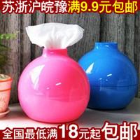 Wholesale 9 yuan shipping creative cute Korean bomb Tissue Tissue Box Tissue cover pumping tray paper towel tube
