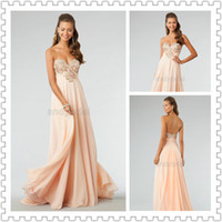 2014 Sweetheart Crystal Beading Coral Evening Dresses Floor-...