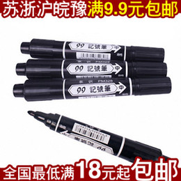 Wholesale Oily single head indelible black marker pen marker pen to sign the bulk of the hook line pen ink can be added
