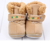 Unisex Winter Fabric The baby cotton shoes MYbaby baby autumn winter warm ugg boots soft bottom shoes 6pair