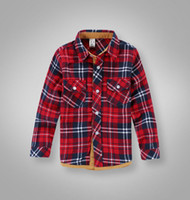 Wholesale children s shirts boys and girls long sleeve flannel shirt lattice shirt
