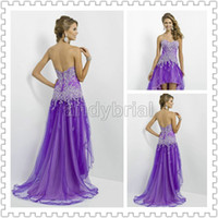 2014 Top Glamorous Sweetheart Party Dresses Short Front Long...
