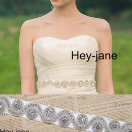 Wholesale wisted Crystal Beadings Wedding Dress Sash Bridal Belts