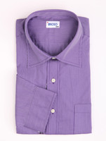 Casual Men Cotton Brioso Purple Striped Casual Long Sleeves 100% Cotton Mens Shirt silk shirts for men r46 #u9-j7X