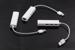 Wholesale USB ports Hub with RJ45 Lan Ethernet for Apple Macbook Air pro retina with retail package new arrival