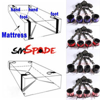 Wholesale under the bed Restraints kit for couple Hand Cuffs Sexy bedroom Underbed restraint set drop bondage SM toys