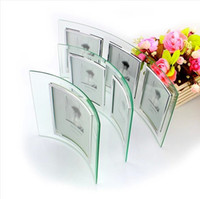 Wholesale Special Shaped Heat Curved Glass Photo Frame Tansparent Brief Fashion Gift Limited Edition Picture Frame Home Decor