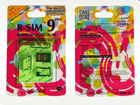 Wholesale R SIM RSIM9 R SIM9 Pro Perfect R SIM Card Unlock Official IOS for iphone S G S C GSM CDMA WCDMA WL QT