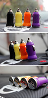 Wholesale NEW USB Car Cigarette Lighter DC Power Charger Adapter Several colors Send the product color random